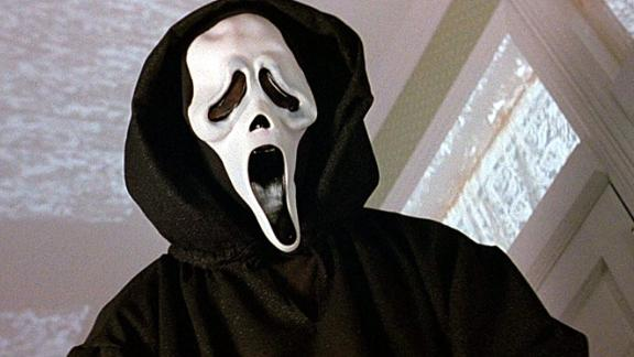 """""""Scream"""" -- Dangers lay close to home in Wes Craven's '90s slasher, about a group of teenagers haunted by a murder and subsequent domestic drama that entangles their families and friends."""