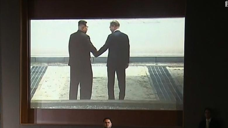 north korea movie trailer video shown before trump press conference_00000000