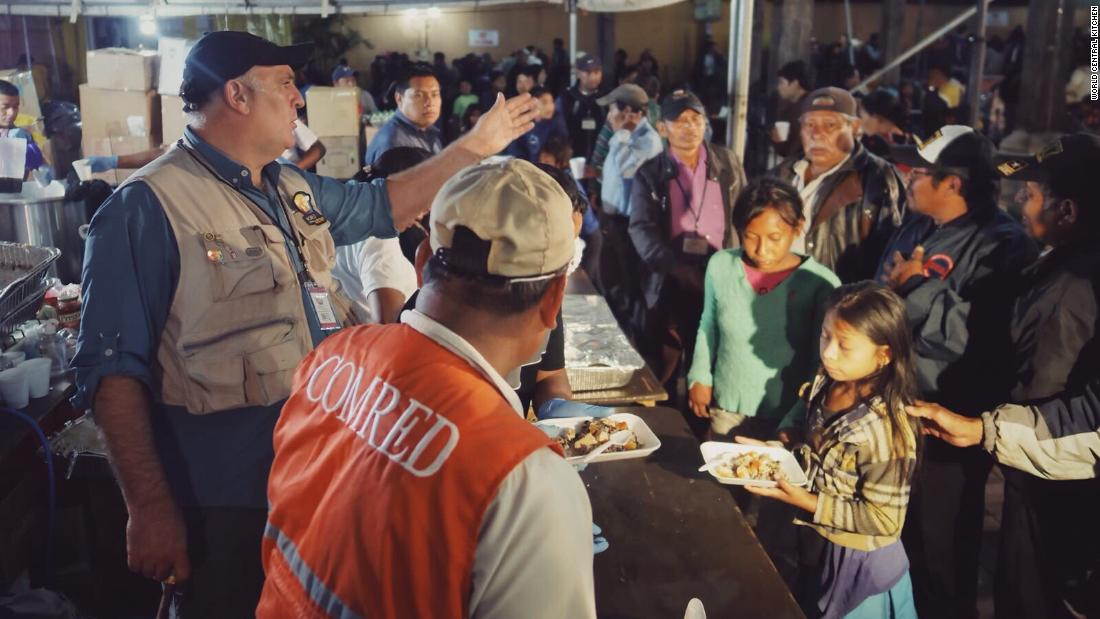 José Andrés is at it again! He's feeding thousands in Guatemala after the volcano eruption