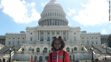 Seven-year-old Havana Chapman-Edwards attended Tuesday's event.