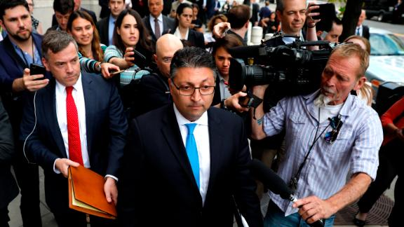 WASHINGTON, DC - JUNE 12: Makan Delrahim, U.S. assistant attorney general for the Antitrust Division, speaks with the media outside U.S. District Court on June 12, 2018 in Washington, DC. A federal judge today said that AT&T can move forward with its $85 billion acquisition of Time Warner, which government which the U.S. Justice Department had sought to block.  (Photo by Aaron P. Bernstein/Getty Images)