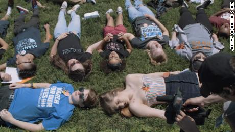 Students hold a Die-In to demand common sense gun control on Capitol Hill