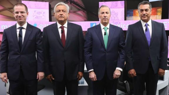 Mexico's presidential candidates, from left: Ricardo Anaya, Andres Manuel Lopez Obrador, Jose Antonio Meade and Jaime Rodriguez Calderon.