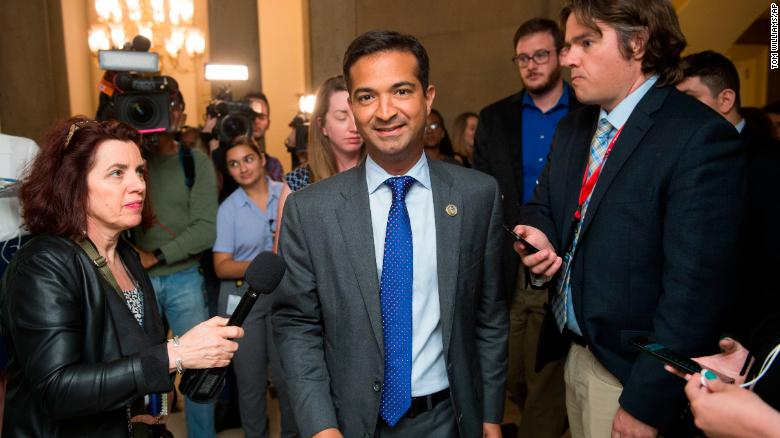 Rep. Carlos Curbelo, R-Fla., arrives to the Capitol office of Speaker Paul Ryan, R-Wis., for a meeting on immigration on June 12, 2018. Tom Williams/CQ Roll Call/AP