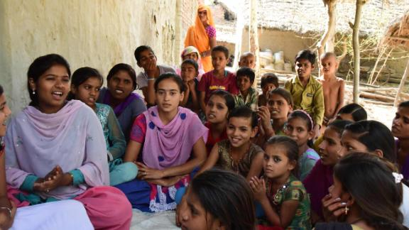 Rajni now leads a self-help and empowerment group of twenty girls in her village in Uttar Pradesh.