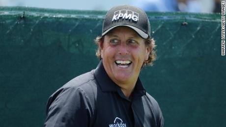Phil Mickelson is bidding to win the career grand slam at Shinnecock Hills.