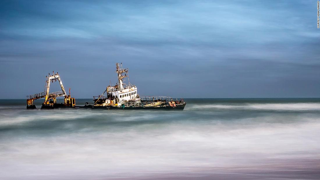 <strong>Recent victim: </strong>The wreck of fishing trawler Zeila which was stranded near Henties Bay in 2008.