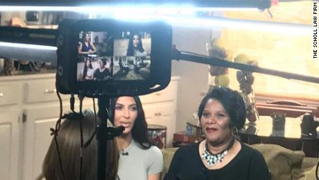 "Kim Kardashian West meets Alice Johnson during interview to air on NBC's ""Today"" show."