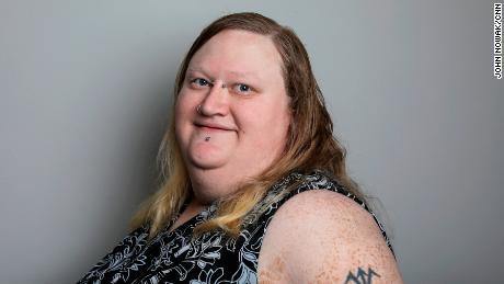Angel Sparks, 33. She met Sabastion five years ago at a transgender convention.