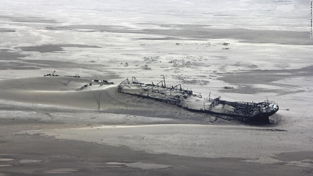 <strong>Ship skeletons: </strong>This wreck near Walvis Bay is one of the hundreds of doomed ships whose wooden or metal skeletons litter the area.