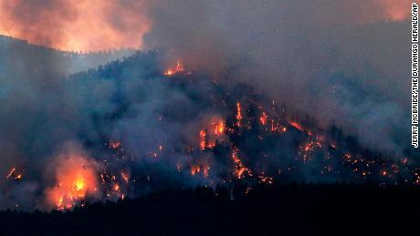 Steep terrain is hindering efforts to fight the 416 Fire in Colorado.