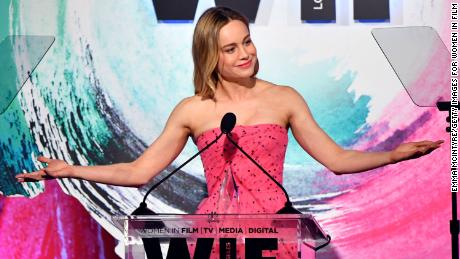 Brie Larson onstage during the Women In Film 2018 Crystal + Lucy Awards