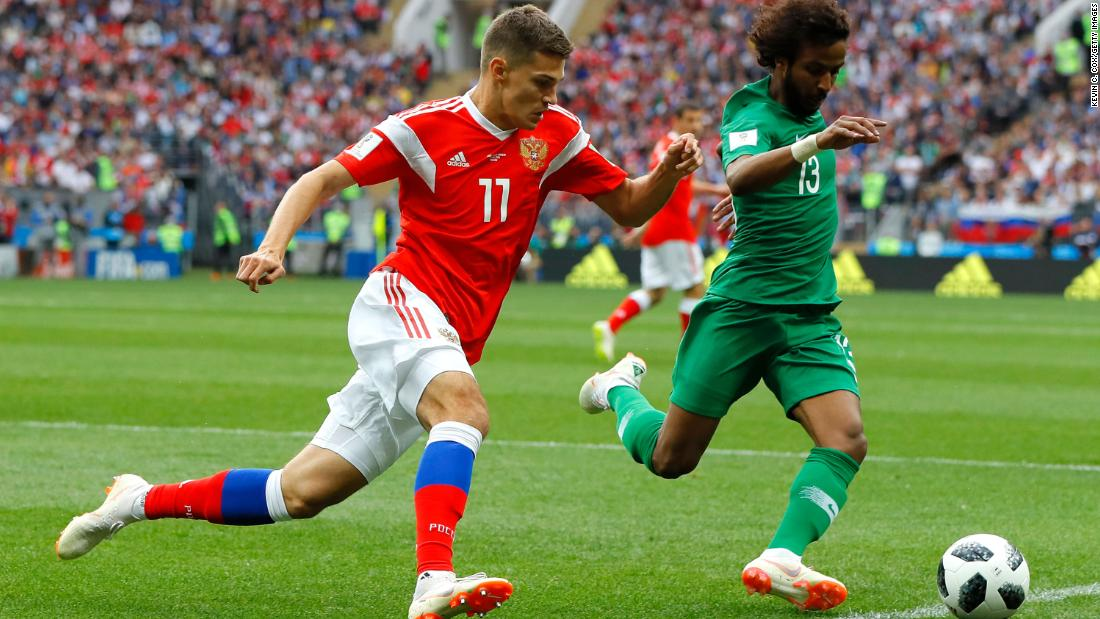Russia Open World Cup 2018 With Thumping Win Over Saudi