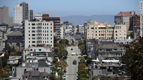 SAN FRANCISCO, CA - JUNE 13:  A view of homes and apartments on June 13, 2018 in San Francisco, California. According to a new survey by the National Low Income Housing Coalition, renters in San Francisco need an income of $60 per hour to afford a two bedroom apartment in the city. San Francisco is followed by San Jose at $48 per hour and Oakland at $45 per hour.  (Photo by Justin Sullivan/Getty Images)