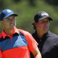 Jordan Spieth Phil Mickelson  US Open day one