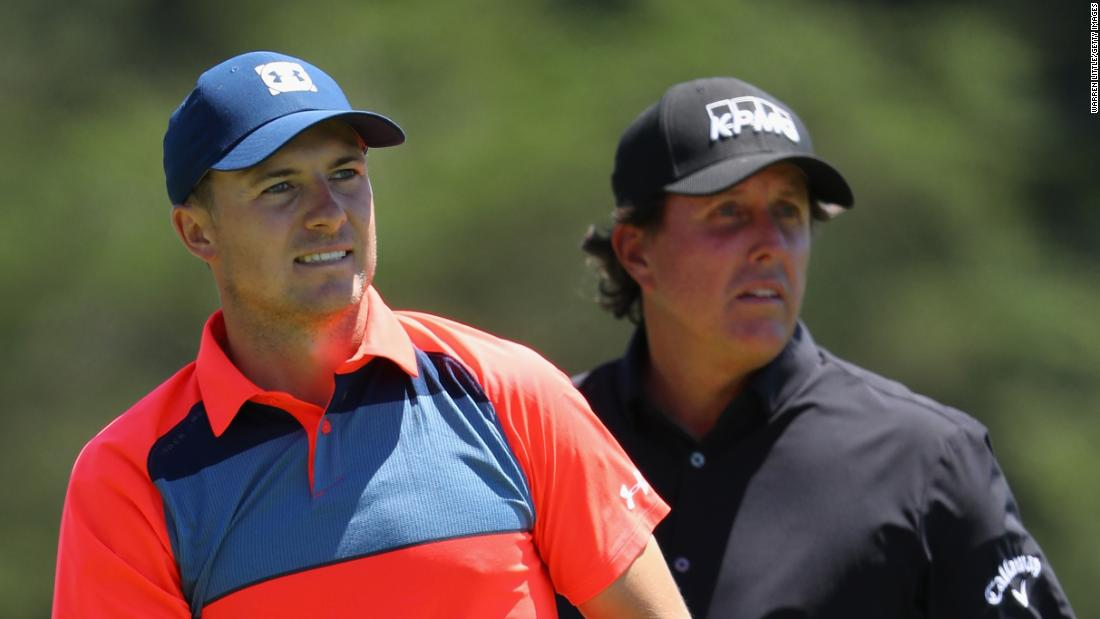 Spieth, the 2015 winner, took 78, while six-time runner-up Mickelson shot 77 as he chases the final leg of the career grand slam.
