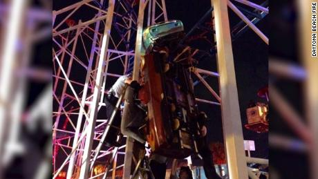 NS Slug: FL:DAYTONA BEACH ROLLER COASTER DERAILS(PHOTOS)  Synopsis: Roller coaster derails in Daytona Beach  Video Shows: Roller coaster derails in Daytona Beach    Keywords: ROLLER COASTER DAYTONA BEACH DERAIL