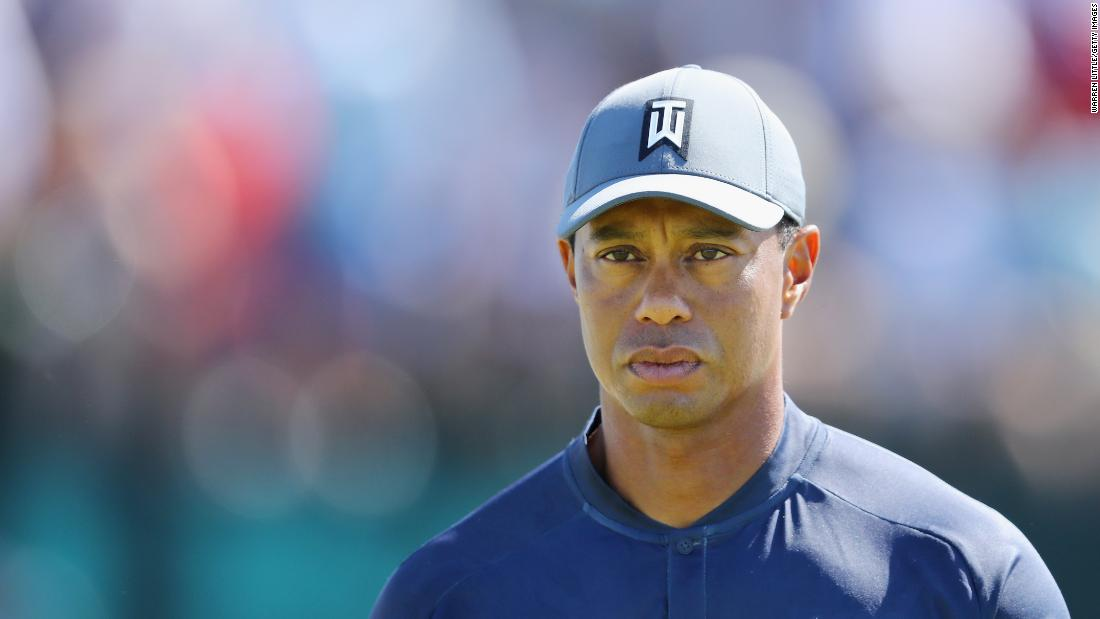 The 42-year-old Woods fought back to reach the turn at three over but let slip two double bogeys on the back nine and ended with an eight-over 78.