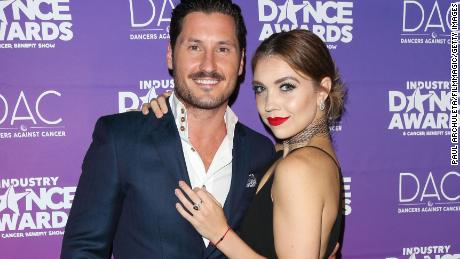HOLLYWOOD, CA - AUGUST 16:  Professional Dancers Val Chmerkovskiy and Jenna Johnson attend the 2017 Industry Dance Awards and Cancer Benefit show at Avalon on August 16, 2017 in Hollywood, California.  (Photo by Paul Archuleta/FilmMagic)