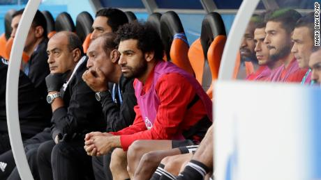 Salah watches on helplessly as Egypt fall to defeat.