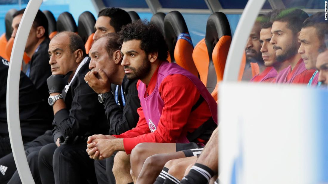 Egyptian star Mohamed Salah never entered the match against Uruguay. The African Player of the Year is coming off a shoulder injury he suffered in the Champions League final.