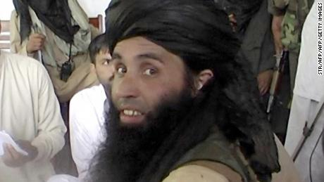 This frame grab taken November 11, 2013,from 2008 video footage shows Maulana Fazlullah, newly appointed chief of Tehreek-e-Taliban Pakistan (TTP), speaking with local journalists in the Pakistan's northwestern Swat valley. The Pakistani Taliban on November 7, 2013, have elected Maulana Fazlullah as their new chief following the death of the previous leader in a US drone strike. Fazlullah led the Taliban's brutal two-year rule in Pakistan's northwest valley of Swat in 2007-2009 before a military operation retook the area. AFP PHOTO / STR        (Photo credit should read STR/AFP/Getty Images)