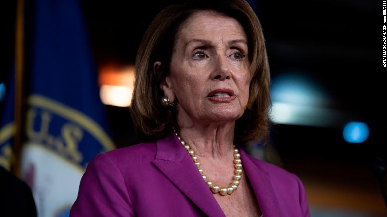 WASHINGTON, DC - JUNE 13: House Minority Leader Nancy Pelosi,  (D-CA) speaks during a news conference held by House Democrats condemning the Trump Administration's targeting of the Affordable Care Act's pre-existing condition, in the US Capitol on June 13, 2018 in Washington, DC. (Toya Sarno Jordan/Getty Images)
