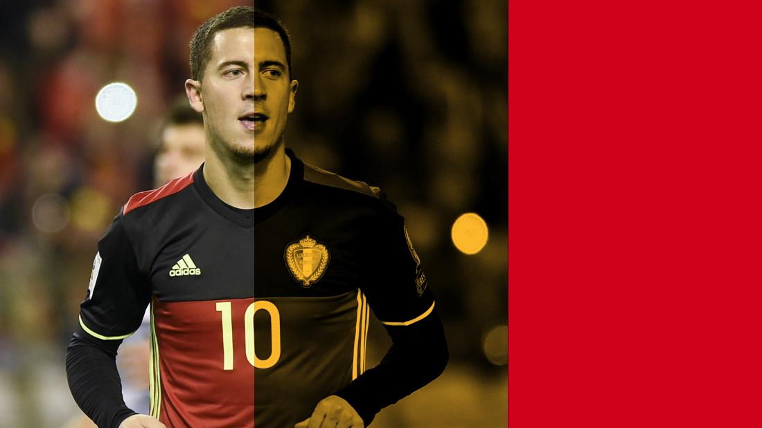 """""""We'll go there to try to win the World Cup,' says Belgium Eden Hazard."""