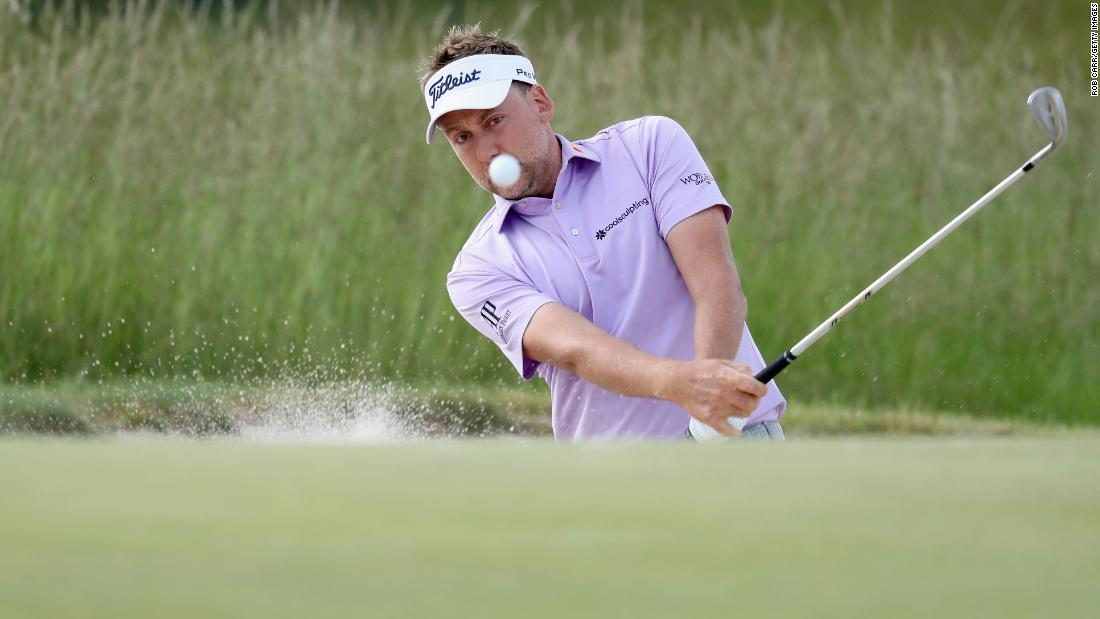 England's Ian Poulter inched to within one shot of Johnson but made a triple-bogey on the 17th and added a bogey on 18 to undo all his good work.