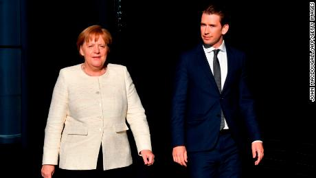 The political fortunes of Merkel and Kurz appear to be on different trajectories.