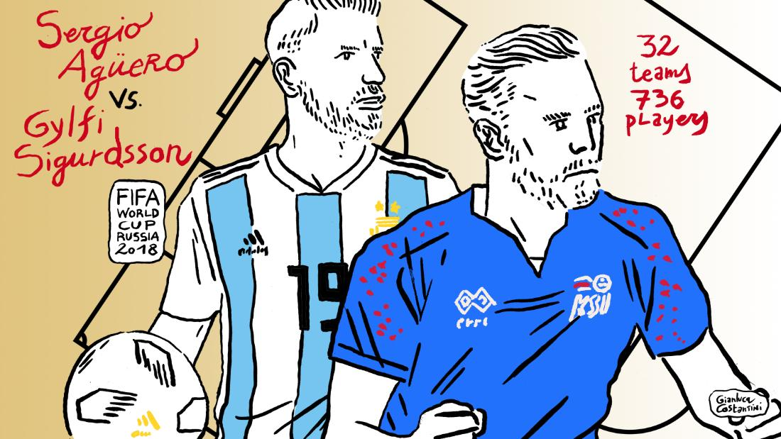 "Argentina and Iceland faced off in the Group D opener on June 16 -- the so-called ""Group of Death."" Both Sergio ""Kun"" Aguero of Argentina and Iceland's Gylfi Sigurdsson suffered knee injuries prior to the World Cup."