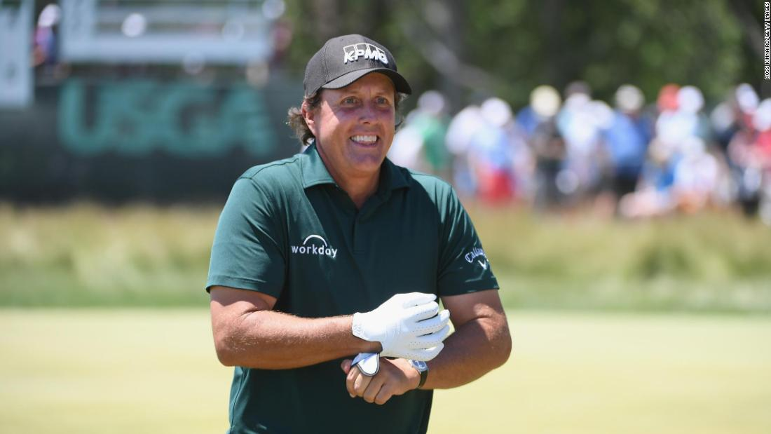 "<strong>Day three: </strong>Birthday boy Phil Mickelson (48) sparked controversy as he ran after a still moving putt and hit it back towards the hole. Mickelson later said he was fed up with going back and forth and ""you take your two-shot penalty and move on."" He denied he was being disrespectful."