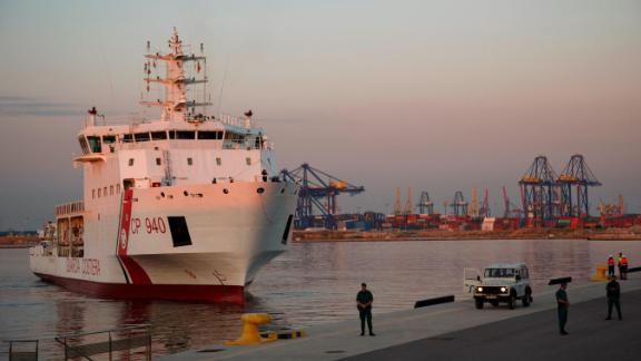 The Dattilo arrives at the Port of Valencia on June 17.
