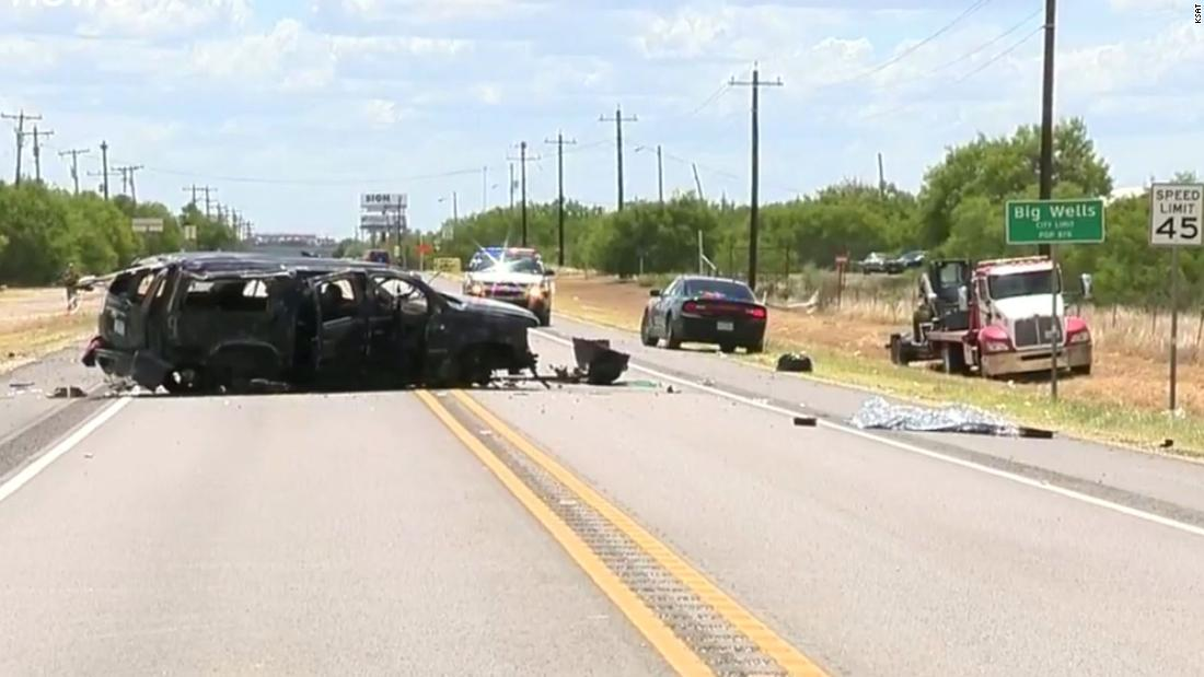 Sheriff says a vehicle carrying 14 people flipped during a high-speed chase in Texas, ejecting 12 passengers