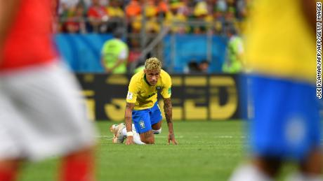 Neymar struggled to make an impact against Switzerland.