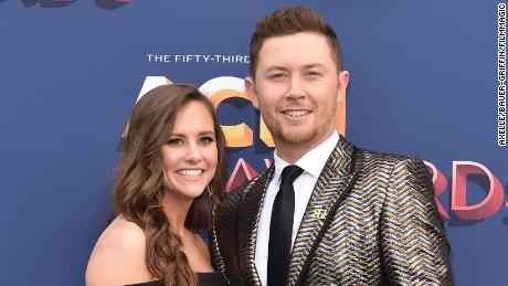 Singer Scotty McCreery and Gabi Dugal attend the 53rd Academy of Country Music Awards at MGM Grand Garden Arena on April 15, 2018 in Las Vegas, Nevada.  Axelle/Bauer-Griffin/FilmMagic