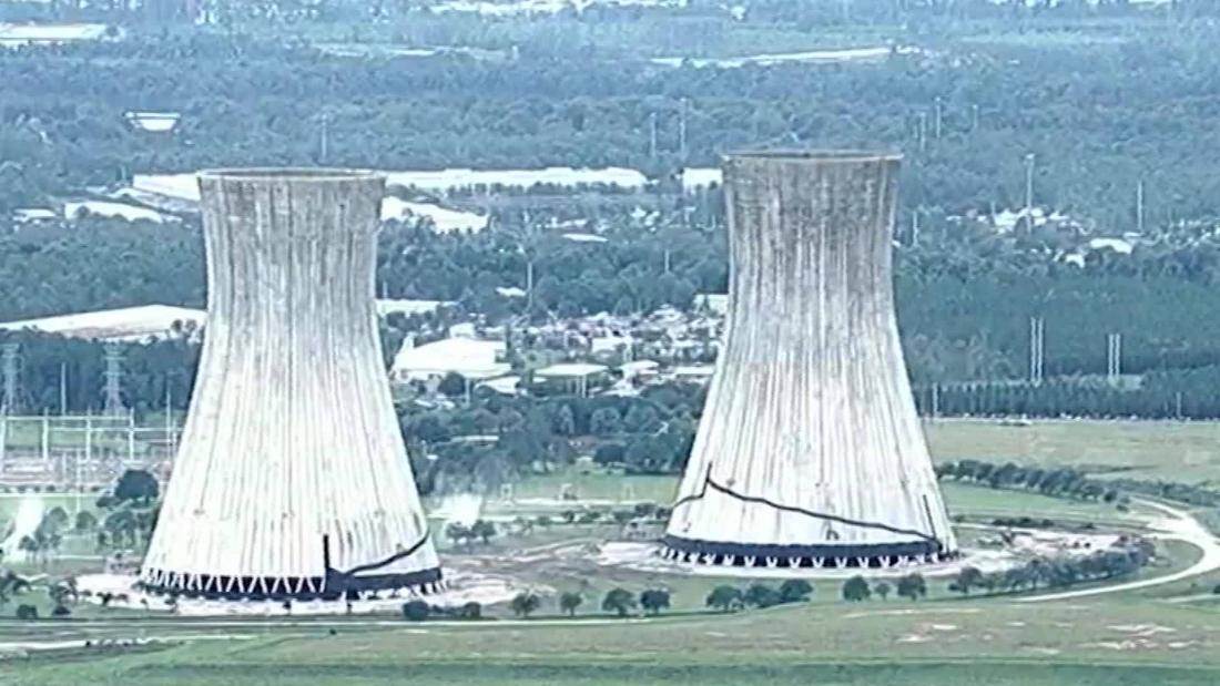 Watch these cooler towers implode