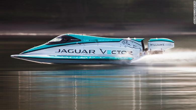 The V20E racing on Britain's Coniston Water