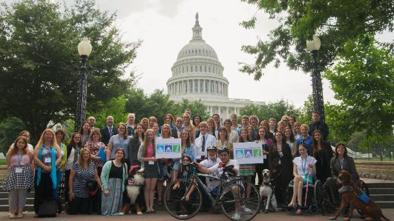 Members of Dysautonomia International lobbying for funding for POTS research.