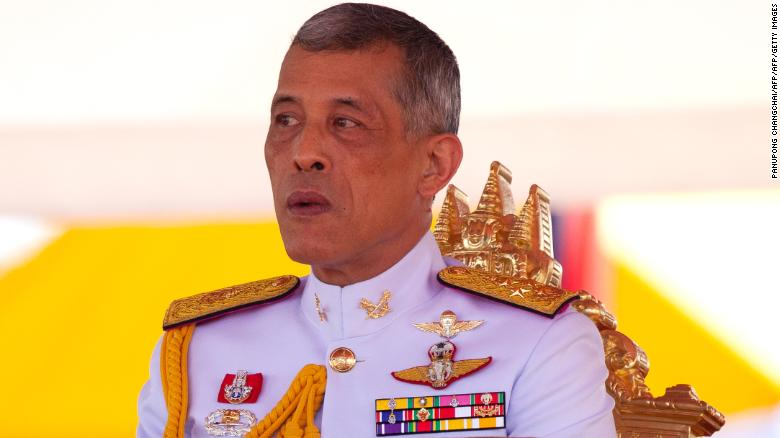Thai King Maha Vajiralongkorn presides over the annual royal ploughing ceremony outside Bangkok's royal palace on May 14.