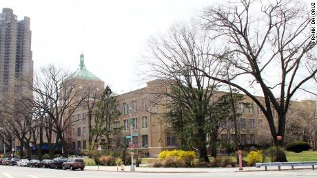 Dewitt Clinton High School, where a historic New Deal-era mural was covered last fall.