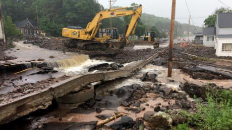 The Michigan Department of Transportation posted images damage caused by the flooding in the Houghton, Michigan area to their Facebook page.