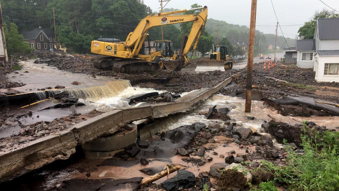 Floods ravage Michigan's Upper Peninsula