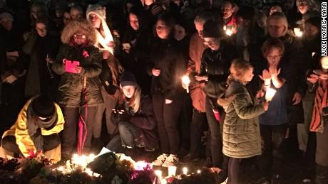 "The ""Reclaim Prince's Park"" vigil held Monday night saw mourners light candles and lay flowers at the site where the body of Eurydice Dixon was found."
