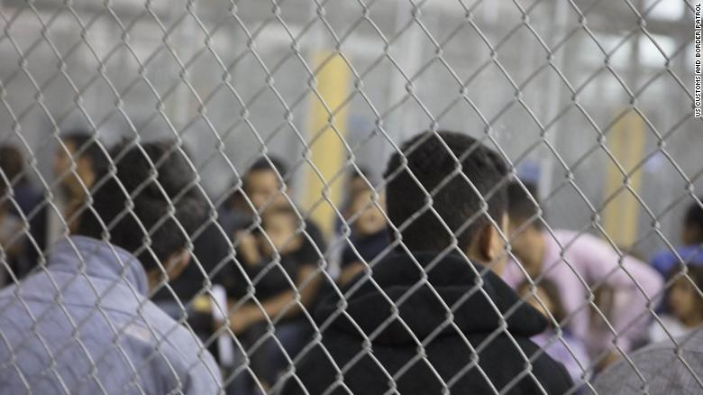 Customs and Border Patrol released five pictures from inside the McAllen, Texas detention facility. 