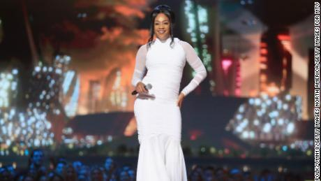 Host Tiffany Haddish speaks onstage at the 2018 MTV Movie & TV Awards