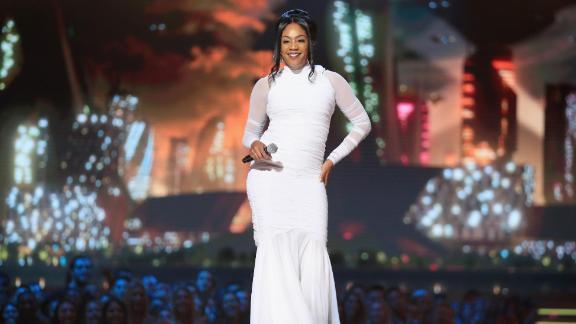 Host Tiffany Haddish speaks onstage at the 2018 MTV Movie & TV Awards