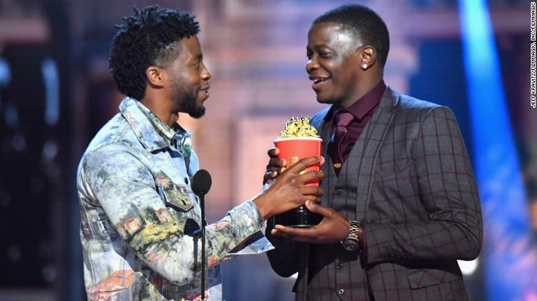 Image result for chadwick boseman mtv awards