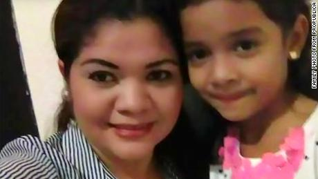 An image of a young girl and her mother.  The girl is one of the children in the audio recording of children separated from their familis, according to ProPublica.