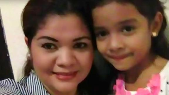 This little girl, seen here with her mother, is heard on a recording from inside a detention facility, according to ProPublica.